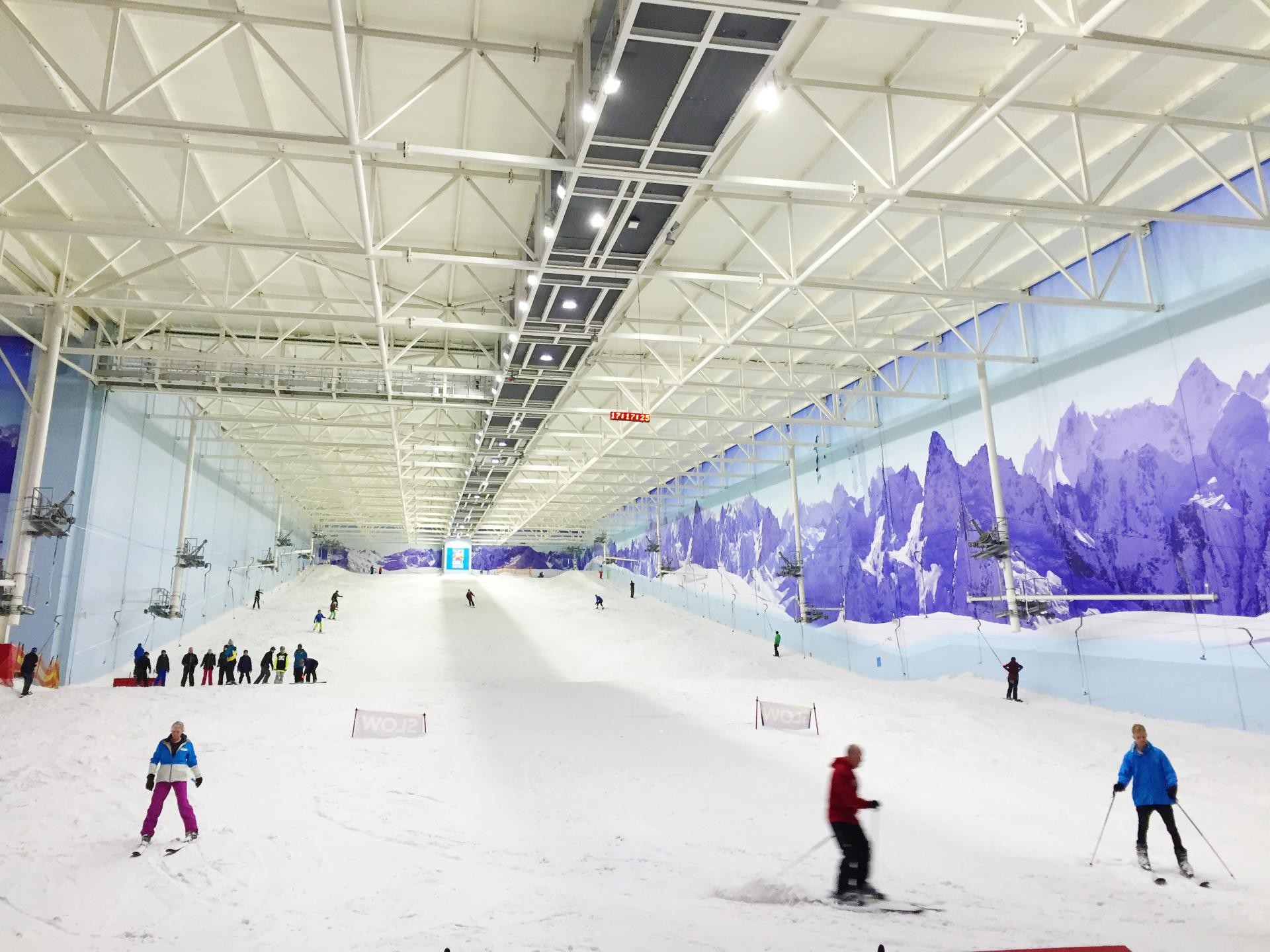 Learning to ski at Chill Factore, Manchester
