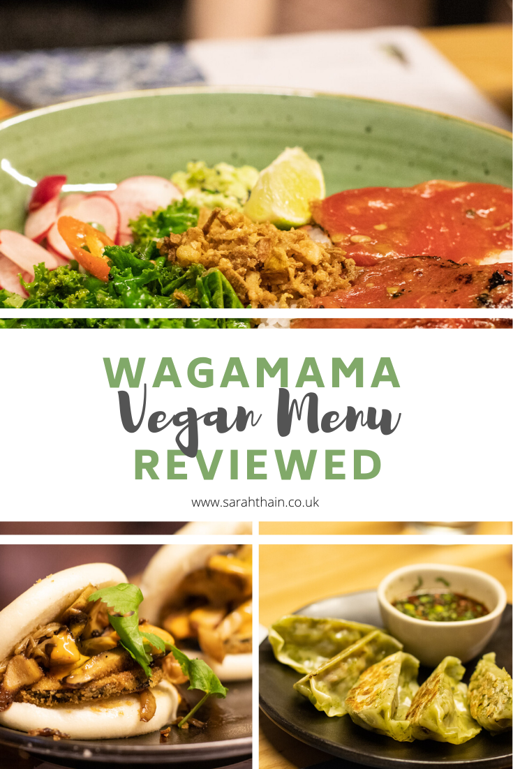 A review of the Wagamama vegan menu | www.sarahthain.co.uk